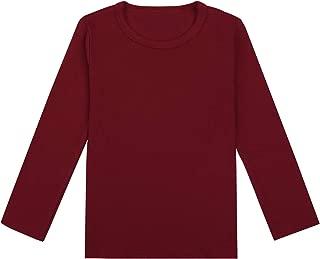 Auranso Kids Boys Girls Basic Long Sleeve Cotton Crew Neck T-Shirt Top Tees 2-7T