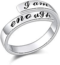 i am enough silver ring