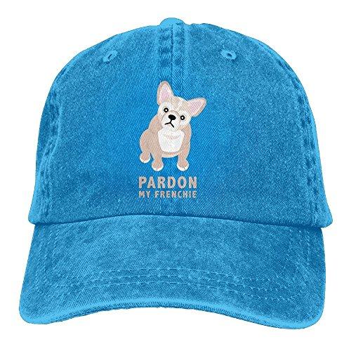 HNE&NQA Sports Denim Cap Pardon My Frenchie Women Snapback Caps Polo Style Low Profile
