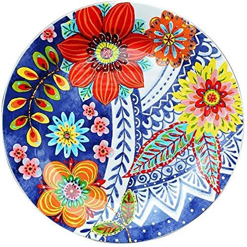 Porcelana Premium Placa tazón de época creativa vajilla plato de edad popular azul y blanco placa decorativa pasteles placa de cerámica occidental for Catering and Home ( Color : 27.5*27.5*3cm )