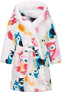 Unicorn Girls Bathrobe Hoodie, Unisex Hooded Gift for Girl and Boys