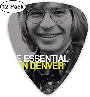 SteveMarke John Denver - The Essential Classic Cool Medium Picks, Perfect Gift For Guitar & Lover,acoustic Guitar, Mandolin, And Bass Guitars (ABS 12 Pack,3 Specifications)