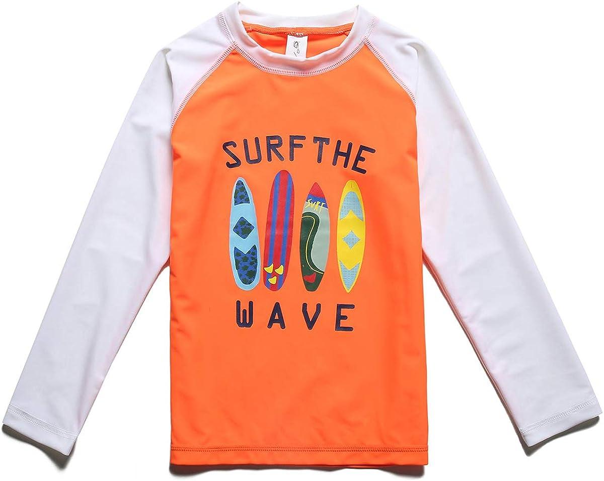 PHIBEE Boys' Rash Guard Virginia Beach Mall Shirt Long UPF 50+ Sun Superlatite Protection Sleeve