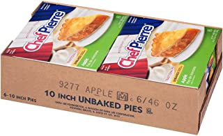 Sara Lee Chef Pierre Traditional Unbaked Apple Fruit Pie, 10 inch -- 6 per case.