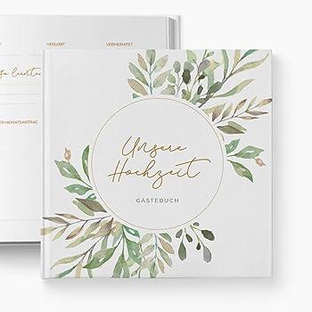 glupspilz | Gästebuch Hochzeit | mit Fragen zum Ausfüllen | Wild Leaves