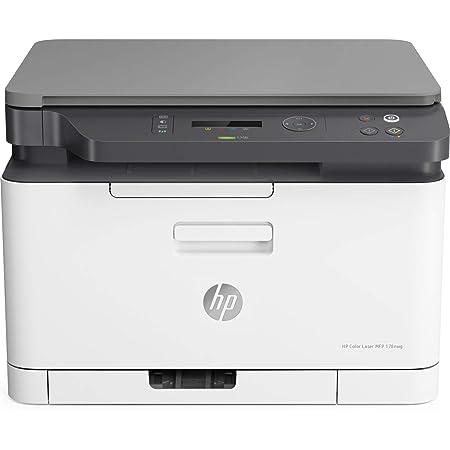 HP Color Laser MFP 178nw - Impresora láser multifunción, color, Wi-Fi, Ethernet (4ZB96A)