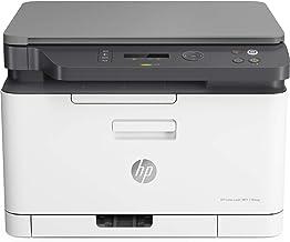 HP Color Laser MFP 178nw - Impresora láser multifunción (imprime, copia y escanea, 18/4 ppm, LED, USB, WiFi), blanco