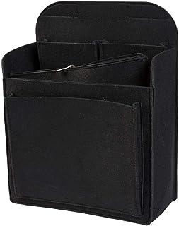 luxdag Rucksack Organizer mit herausnehmbarer Reißverschlusstasche aus Filz, schwarz Farbe wählbar   Einsatz für z.B. Fjallraven Classic