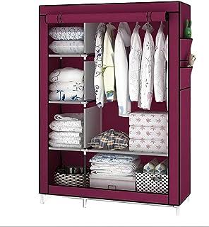 Armoire simple et moderne portable pour suspendre les vêtements en tissu, tube de montage en acier renforcé, cadre en acie...