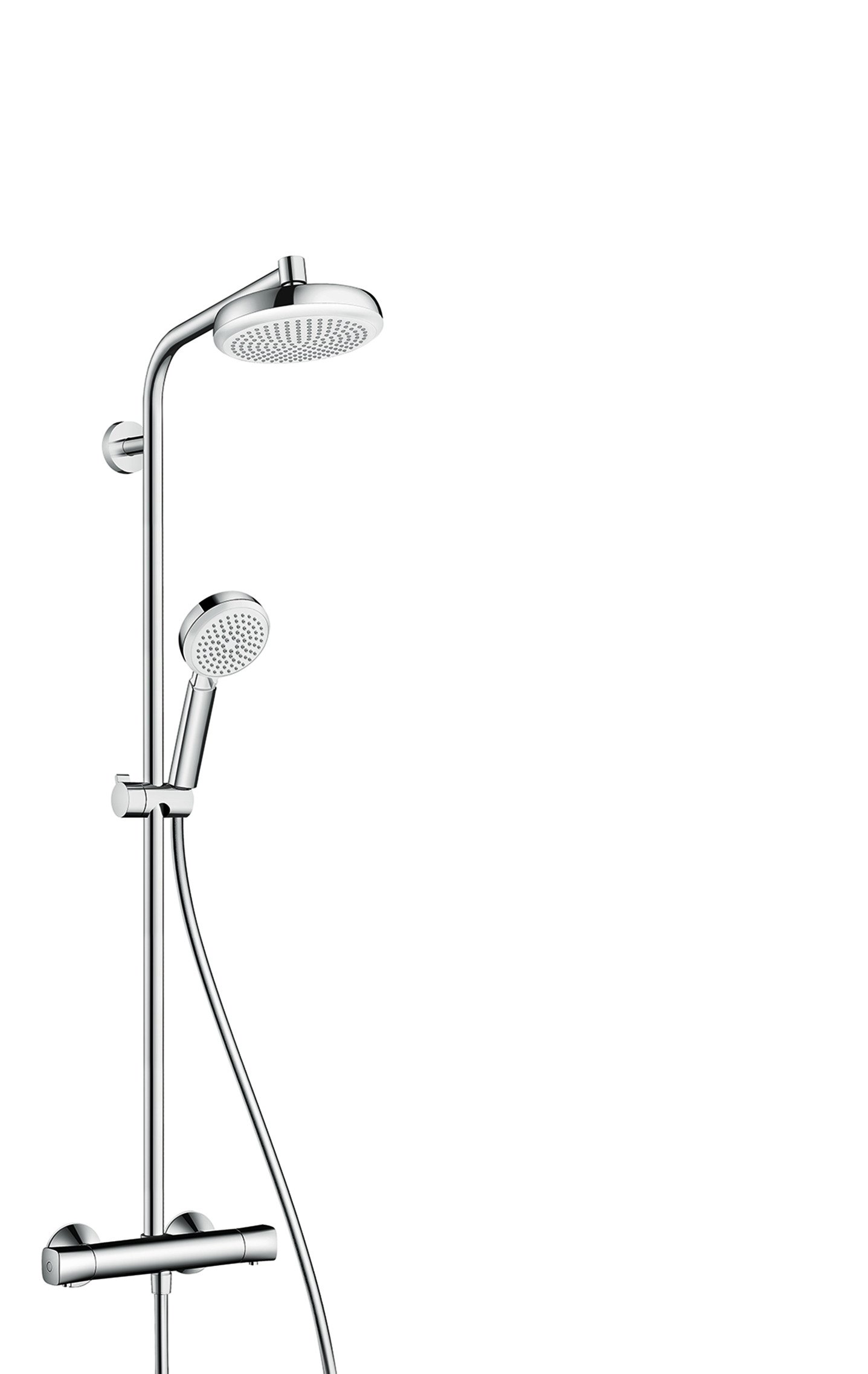 Hansgrohe 27265400 Crometta 160 columna de ducha, 4 tipos de ...