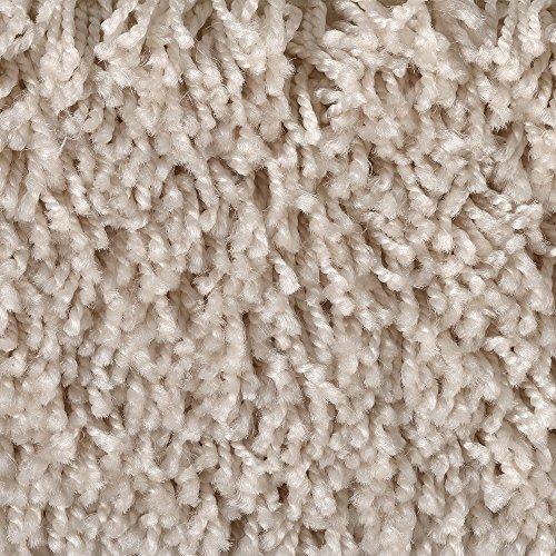 Teppichboden Auslegware Meterware Hochflor Shaggy Langflor Velour beige 400 und 500 cm breit, verschiedene Längen