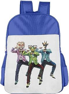 Children's School Bags Animal Face Human Dance Anti-pressure Backpacks Book Bag