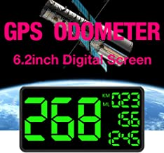 Kingneed Truck GPS Speedometer 6.2 inch Extend Digital Display Vehicle Odometer Trip Meter Course Overspeed Alarm MPH/KMH