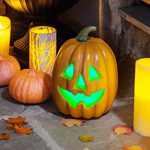 Lights4fun Citrouille Lumineuse LED de Couleur Changeante pour Halloween à Piles