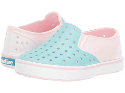 Native Kids Shoes Miles Block (Toddler/Little Kid) (Blossom Pink/Hydrangea Blue/Shell White/Shell Block) Girls Shoes