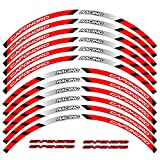 12 PCS Ajustar la Etiqueta de la Rueda de la Rueda de la Rueda de la Rueda de la Rueda de la Raya del Borde Reflectante de Aprilia Caponord (Color : 8)