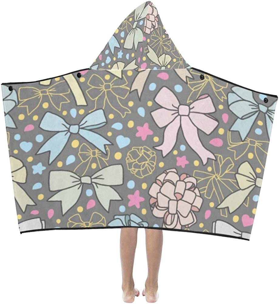Hoody Blankets Tulsa Mall for Kids Pink Heart-Shaped Love OFFicial store Bow Girl Hoo