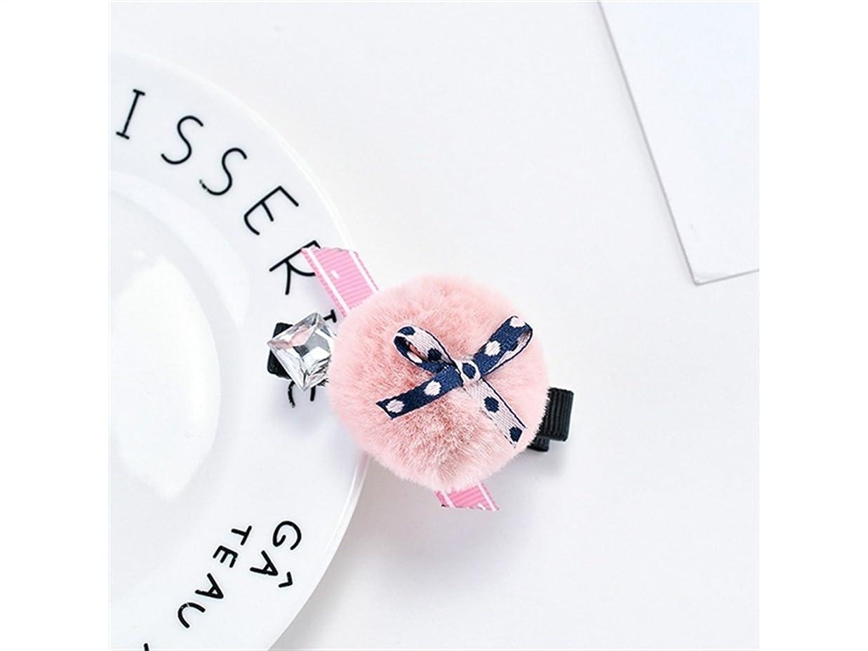 欲望グリット乗り出すOsize 美しいスタイル ヘアボウボウヘアクリップバングヘアピンヘアアクセサリーダックビルクリップ(ピンク)