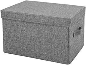 Cube Storage Box with Handles,Cotton Fabric Collapsible Storage Box,Storage Bins Baskets for Clothes Toys. (Color : Dark G...