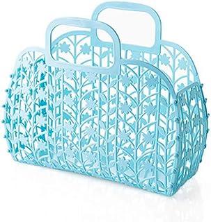 SUBIN Pliable Plastique Bath Votre Panier Bath Panier Panier De Rangement Boîte De Rangement,Blue