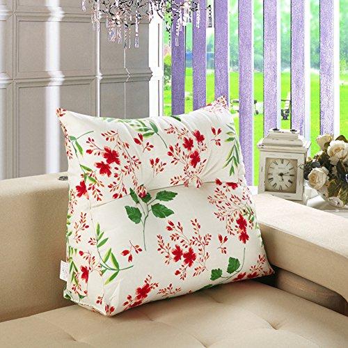 VERCART Wedge Pillow Bed Wedge Pillow Sofa Rückenlehne Kopfkissen, Keilkissen,Rückenkissen, Fernsehkissen, Ergokissen Weich Lesekissen Stützkissen Bettkissen Mischfarbe 60x20x50cm