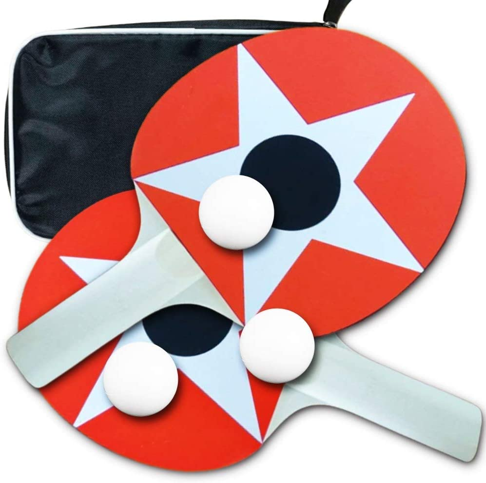 Ping Pong Paddle Set 2 Table Tennis SALENEW very popular! Balls 3 Max 45% OFF S and Case Rackets
