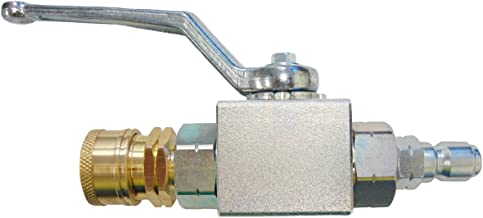 Ultimate Washer UW18715 High Pressure Ball Valve Kit with 3/8-inch MNPT Plug x 3/8-inch FNPT Quick-Connect