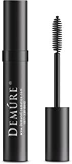 Mineral Voluminous Eye Mascara - Conditioning Black Mascara High Definition for Long, Lush, Full Lashes - Water Resistant Compatible with Lash Extensions Falsies - Demure Cosmetics by Deluvia