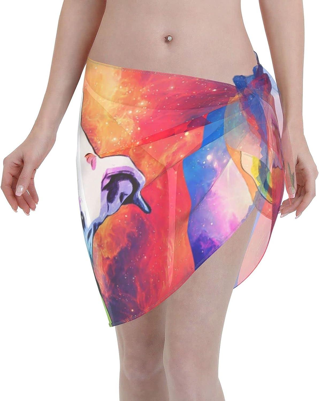 FSERSANHW Rainbow Pitbull Chiffon Beach Women Short Cover Sarong Cheap super special price trust