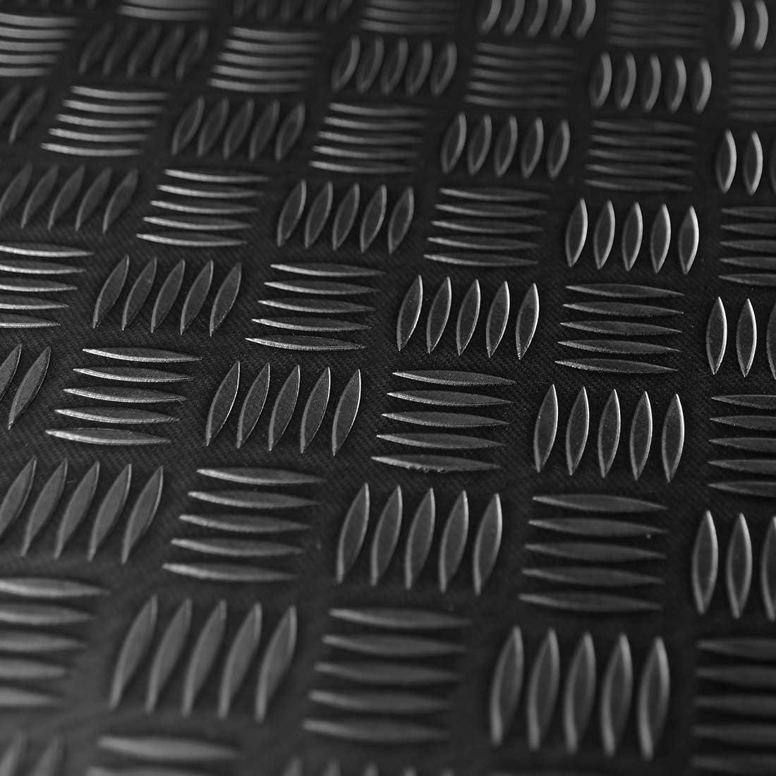 Premium Gummiläufer Gummimatte Schutzmatte in SchwarzFeinriefen3 mm