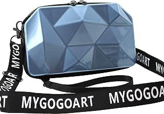 MYGOGOART Hard Shell Comestic Case Makeup Handbag Crossbody bag Mini Suitcase Purse Tiny Luggage Mini Carry On Wristlet wi...