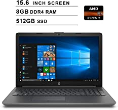 HP 2019 Premium Pavilion 15.6 Inch HD Laptop (AMD 3 2200U 2.5GHz up to 3.4GHz, 8GB DDR4 RAM, 512GB SSD, Bluetooth, WiFi, Windows 10) (Renewed)