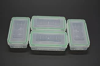 Recargable caso, wommty 4piezas transparente plástico impermeable almacenamiento de la batería Funda soporte organizador para 18650baterías/Pilas 16340/CR123A pilas