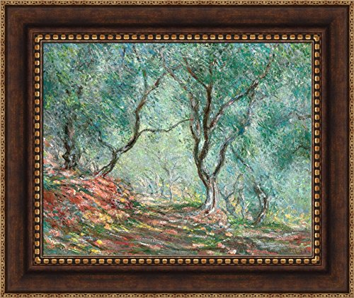 Claude Monet Olive Tree Wood in the Moreno Garden Framed Canvas Giclee Print -