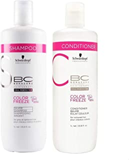Schwarzkopf BC COLOR FREEZE SILVER SHAMPOO AND CONDITIONER 1000ml