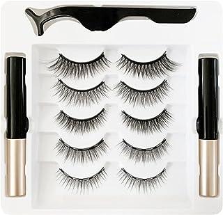Magnetische Wimpers Met Eyeliner, Herbruikbare Magnetische Wimpers En Magnetische Eyeliner Kit, Geüpgraded 3D Magnetische ...