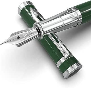 Wordsworth & Black Fountain Pens Set-[Racing Green]-Medium Nib-Journaling and Calligraphy-Smooth Writing Pen- 6 Free Ink Cartridges & Ink Refill Converter-Luxury Gift Case-Perfect for Men & Women