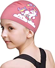 FUNOWN Kids Swim Caps for Kids, Children, Boys and Girls Aged 2-8, Baby Waterproof Bathing Caps for Long and Short Hair
