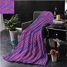 Elxmzwlob Microfiber Blanket Pink Zebra Camping & Hiking 60