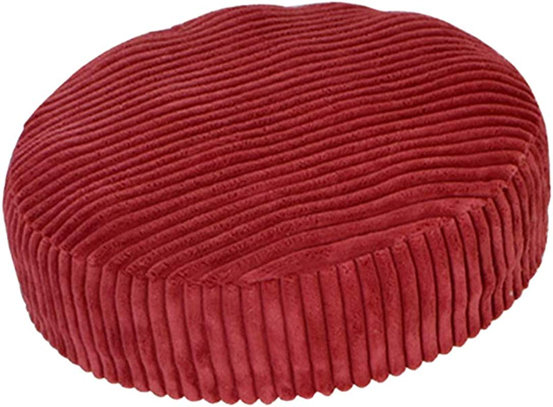 B Blesiya Slip Resistant Round Bar Stool Cover Chair Seat Cushion Fits For 30 40cm 12 16 Inch Stools Wine Red 02 33cm 13 Inch