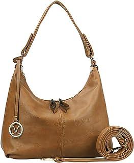 حقائب للنساء - العم حقائب كتف من الجلد الصناعي محفظة هوبو بسحاب إغلاق متوسط الحجم