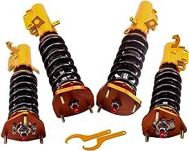 Adj. Damper Coilovers kit for Toyota Corolla 88-99 E90 E100 E110 AE92-AE111 Adjustable Height Shocks Struts 2 Front + 2 Rear