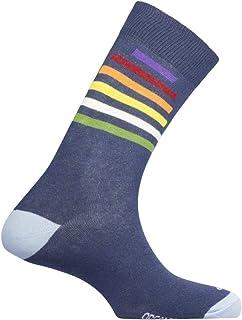Mund Socks, Calcetines de vestir de mujer Rainbow con Algodón Orgánico (M (38-41), Marino)