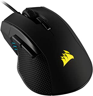 Corsair Ironclaw RGB Optical FPS/MOBA Gaming Mouse (18000 DPI Optical Sensor, 7 Programmable Buttons, RGB Multi-Colour Bac...