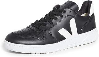 Veja Sneaker V-10 In Pelle Nera Con Logo Bianco, Größe Uk: