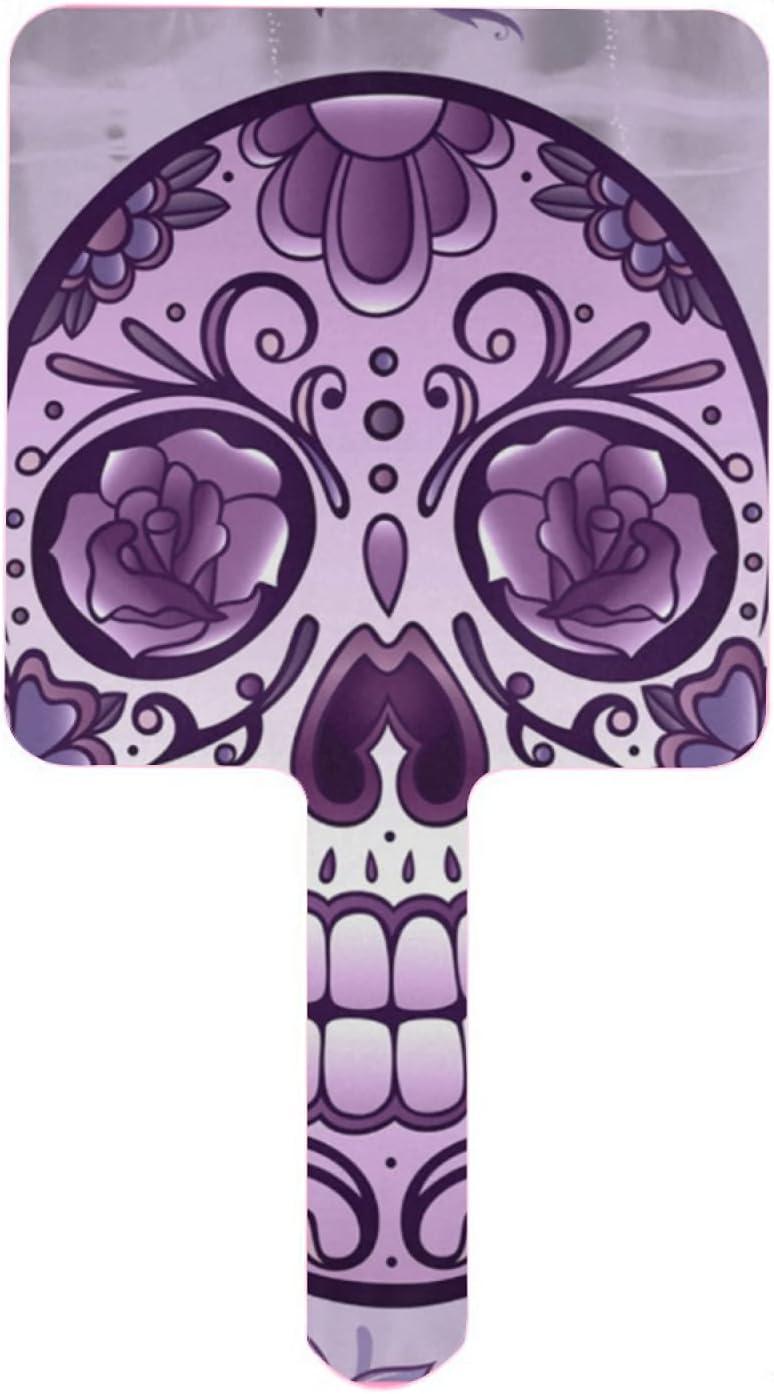 XfaithX Hand Mirror Purple Mexican low-pricing Salon Sugar Barber Jacksonville Mall Hair Skull