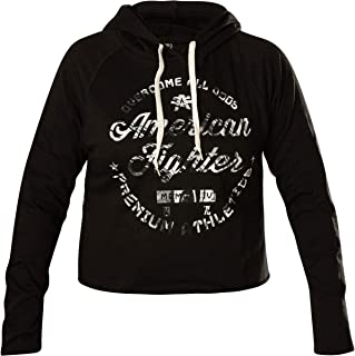 Women's Allegiance Cut Off Black Hood Sweater (XSmall)