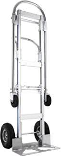SHZOND Aluminum Hand Truck 2 in 1 Convertible Hand Truck 770 LBS Capacity Hand Truck and Dolly Utility Cart