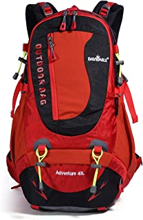 DAVIDNILE Hiking Backpack 40L Waterproof Outdoor Internal Frame Backpacks for Men and Women Travel Camping Climbing