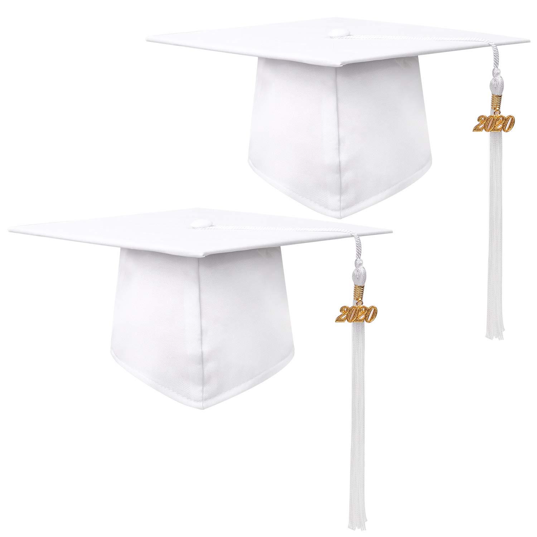 URATOT 8 Pieces 2020 Black Graduation Tassels with 2020 Year Charm Graduation Cap Tassels for Graduation